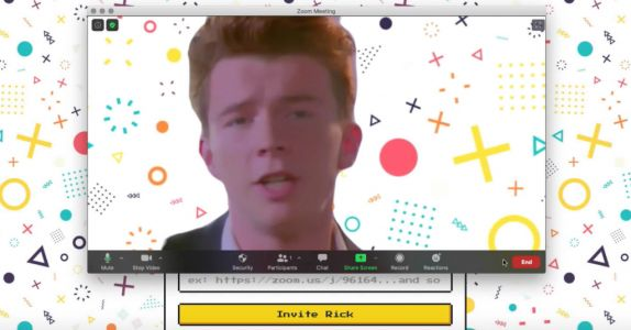 You can now Rickroll office Zoom meetings - here's how