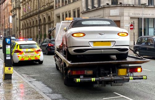 Bentley worth £167,000 towed by police as it 'had no insurance'