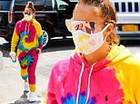 Jennifer Lopez dons vibrant tie-dye ensemble by Ralph Lauren while stepping out in NYC