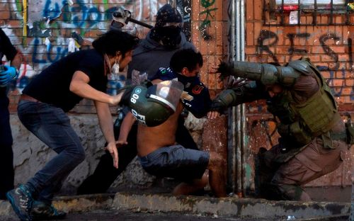 Chile's president promises 'no impunity' for police using excessive force