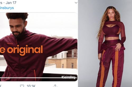 Beyoncé mocked by Sainsbury's after fans think her new fashion collection looks like their uniform