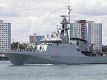 Royal Navy's new counter-piracy warship HMS Trent sets sail for the Mediterranean