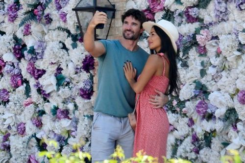 Nicole Scherzinger and Thom Evans look loved-up as they're spotted house hunting