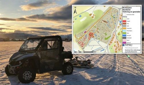 Archaeology: Viking grave boat and burial mounds revealed thanks to georadar X-rays