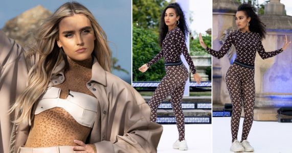 Little Mix's Perrie Edwards and Leigh-Anne Pinnock bust some moves in rehearsal for their first gig of the year