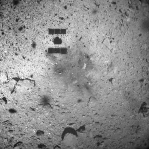 Japanese probe lands on asteroid to capture sample