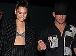 Jessie J looks overjoyed as she holds hands with on-again beau Channing Tatum