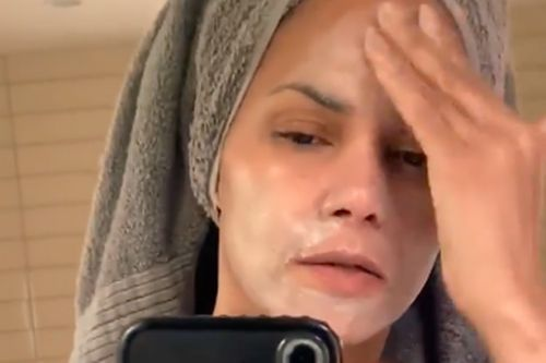 Halle Berry shares her quarantine skincare hero - and it's a £22 face scrub