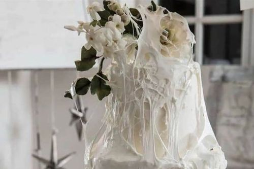 People in stitches over 'spider web' wedding cake that looks very rude