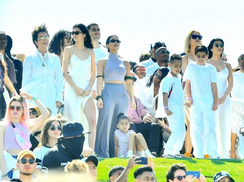 Kanye West is supported by Kim and all the Kardashians as he brings Sunday Service to Coachella
