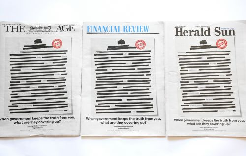 Why Australia's newspapers are blacking out their front pages