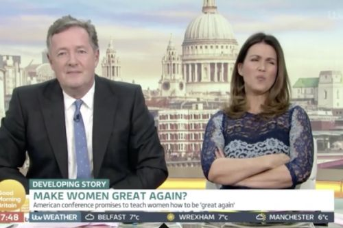 Susanna Reid left enraged as anti-feminist activist guest on Good Morning Britain explains how to 'make women great again'