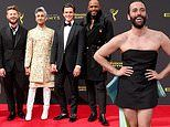 Queer Eye cast dazzle at the Creative Arts Emmy Awards as Jonathan Van Ness Tan dons dress with bow