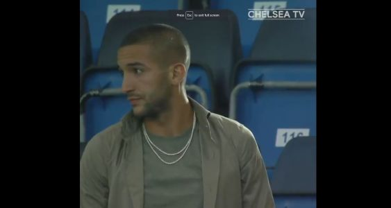 : Worried Hakim Ziyech at Stamford Bridge to watch his Champions League future decided