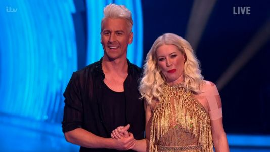 Dancing On Ice 2021: Denise Van Outen still 'really sore' as she wears bandages on launch show after dislocating shoulder