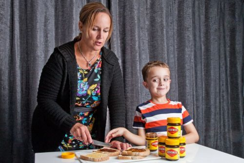 Boy so scared of food he only ate Vegemite sandwiches is treated with puppets