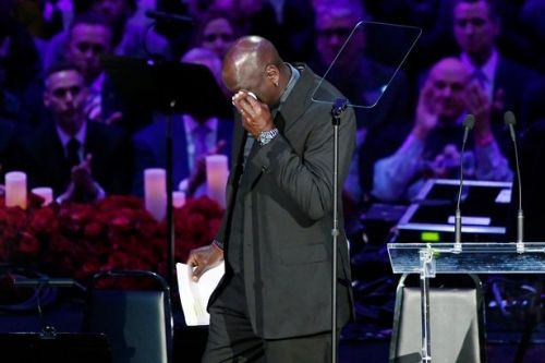 NBA legend Michael Jordan pays poignant tribute to Kobe Bryant at memorial service
