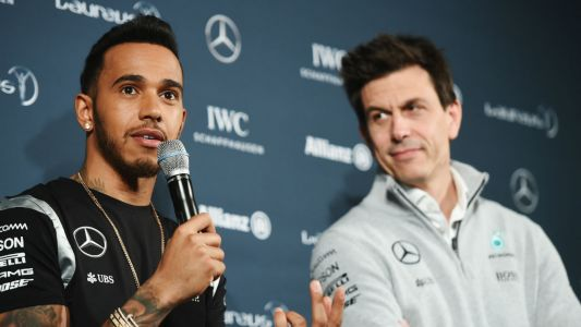 'Total nonsense': Mercedes F1 chief Toto Wolff dismisses rumours of a fall out with Lewis Hamilton