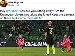 Krasnodar players blasted on social media after only FOUR took the knee ahead of Chelsea defeat