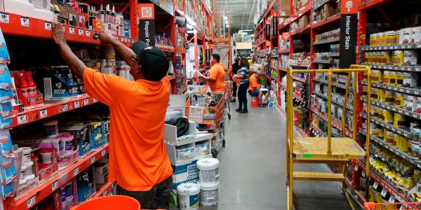Home Depot slides after cutting its full-year profit outlook for the 2nd time