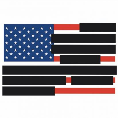 Tucker Viemeister's blacked-out US Flag criticises redacted Mueller Report