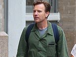 Ewan McGregor looks dapper in green as he spends the day shopping in NYC