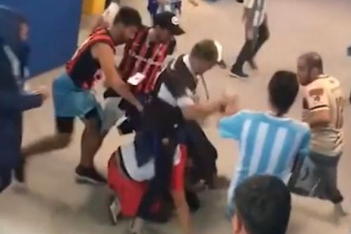 World Cup bust up as video shows Argentina and Croatia fans fighting in Russia