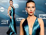 Scarlett Johansson looks like she's bounced back from being 'violently ill' as she stuns at the SAGs