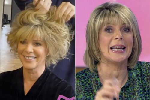 Ruth Langsford's glam transformation as she swaps blonde bob for backcombed curls