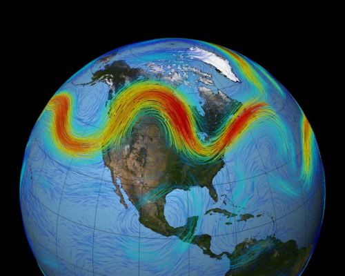 Heatwaves on multiple continents linked by jet stream tendency