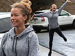 Kendra Wilkinson beams as she goes for workout after finalizing divorce from Hank Baskett