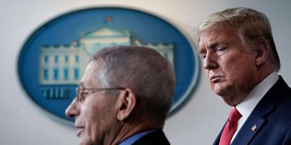 Dr. Fauci contradicted Trump's repeated claims that the US is 'rounding the corner' on COVID-19. It's 'actually going in the wrong direction'