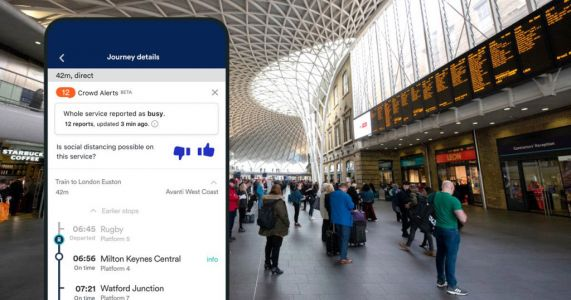 Train app adds 'Crowd Alert' feature to help users avoid busy journeys