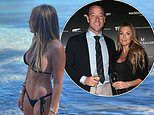 John Terry's wife Toni shows off her abs in a bikini while he jokes she should 'get back in the gym'