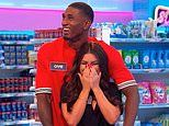 Love Island's Ovie Soko and India Reynolds get 'VERY intimate' as they film Supermarket Sweep
