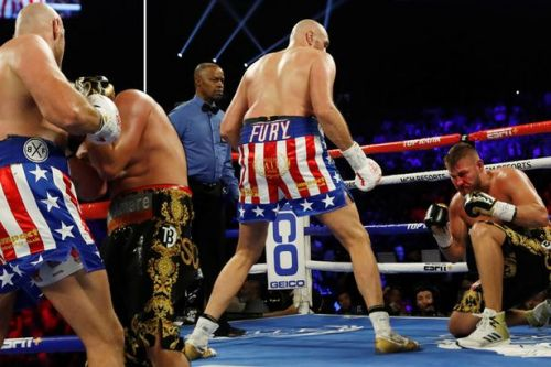 Tyson Fury beats Tom Schwarz in second round as Brit outclasses opponent