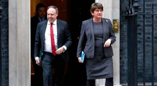 Reports DUP are shifting Brexit red lines are nonsense, says Arlene Foster