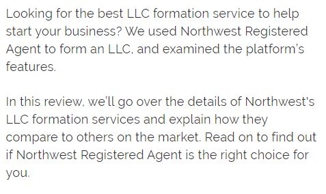 Northwest Registered Agent Reviews 2020- What You Need To Consider