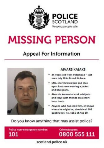 Can you help police piece together missing man Aivars Kajaks' movements during the past couple of weeks?