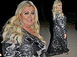 Gemma Collins continues to display her slimmed-down frame in a black lace gown at charity ball