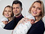 Rachel Riley andPasha Kovalev dotes on their daughter Maven, one month