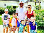 Coleen Rooney shares a family snap with husband Wayne and their four children