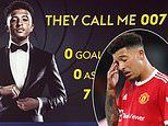 Sky Germany taunt Jadon Sancho's torrid start at Manchester United with James Bond-themed graphic