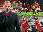 Jamie Carragher insists the pressure is on Liverpool ahead of their clash with Manchester United