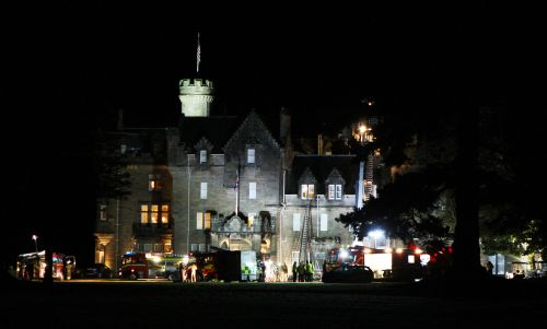 Parts of a luxury Highland hotel destroyed after fire break out