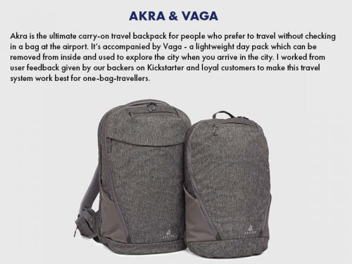 WIN free nights in a luxury hostel & Akra carry-on backpack