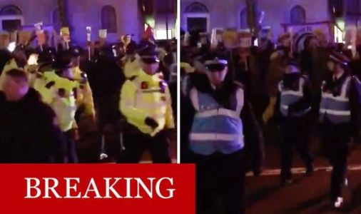 Protestors march on Downing Street enraged at Boris Johnson's election win 'Not my PM!'
