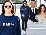 Jenna Dewan hides her baby bump under 'Mama' sweater. as she finalizes divorce from Channing Tatum