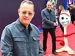 Tom Hanks puts on an animated display at the Toy Story 4 premiere in London