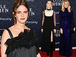 Emma Watson joins Saoirse Ronan and Laura Dern for the NYC premiere of Little Women